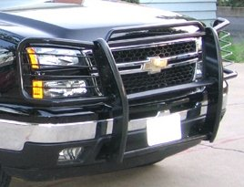 Chevy Avalanche Without Cladding Black Brush Guard / Grille Guard for the 2003, 2004, 2005, and 2006 Avalanche Without Cladding