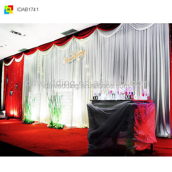 white wedding theme decoration backdrop fabric