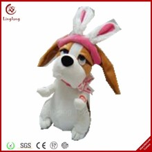 Wholesale electronic rocking plush puppy doll soft stuffed cartoon dog toys cartoon animal toy