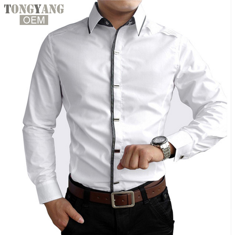 TONGYANG New 2018 Spring Autumn Cotton Dress Shirts High Quality Mens Casual Shirt,Casual Men Plus Size Slim Fit Social Shirts