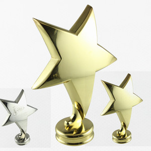 Electroplating Alloy Type Gold Plated Metal Star Cup Trophy