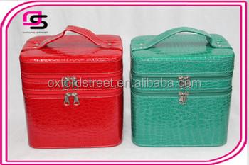 64b432be9f4f New big double zipper lady makeup box The large capacity travel bin  cosmetic box