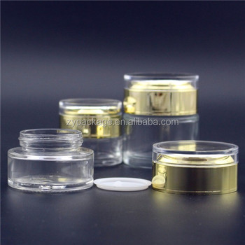 15ml lovely glass jar for eye cream with gold sliver lid