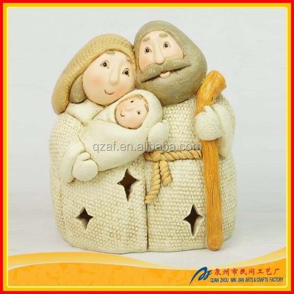 Wholesale Jesus Baptism Polyresin Personalized Christmas Ornaments