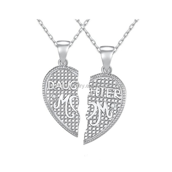1cdd85d561 2017 New Fashion Jewelry Couples Breakable Heart Pendant 925 Silver Necklace