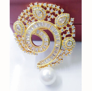 fashion elegant women's ladies jewelry wedding brooches shawl clip