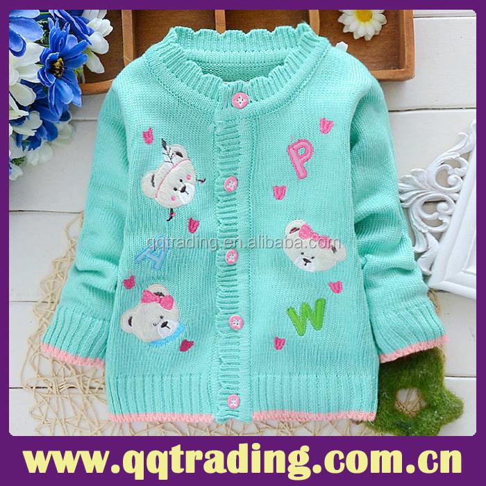 Jacquard Weave Knitting Pattern Round Neck Cute Heart Girls Kid ...