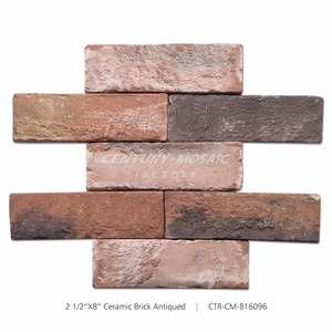 Hot sale Ceramic Antique Surface 2.5 by 8 Inch Red Brick Wall Tile