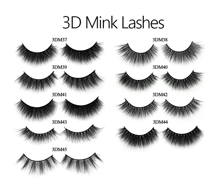 Blink Lashes Mink Strip Lashes 3d Eyelash Boxes Customized Wholesale