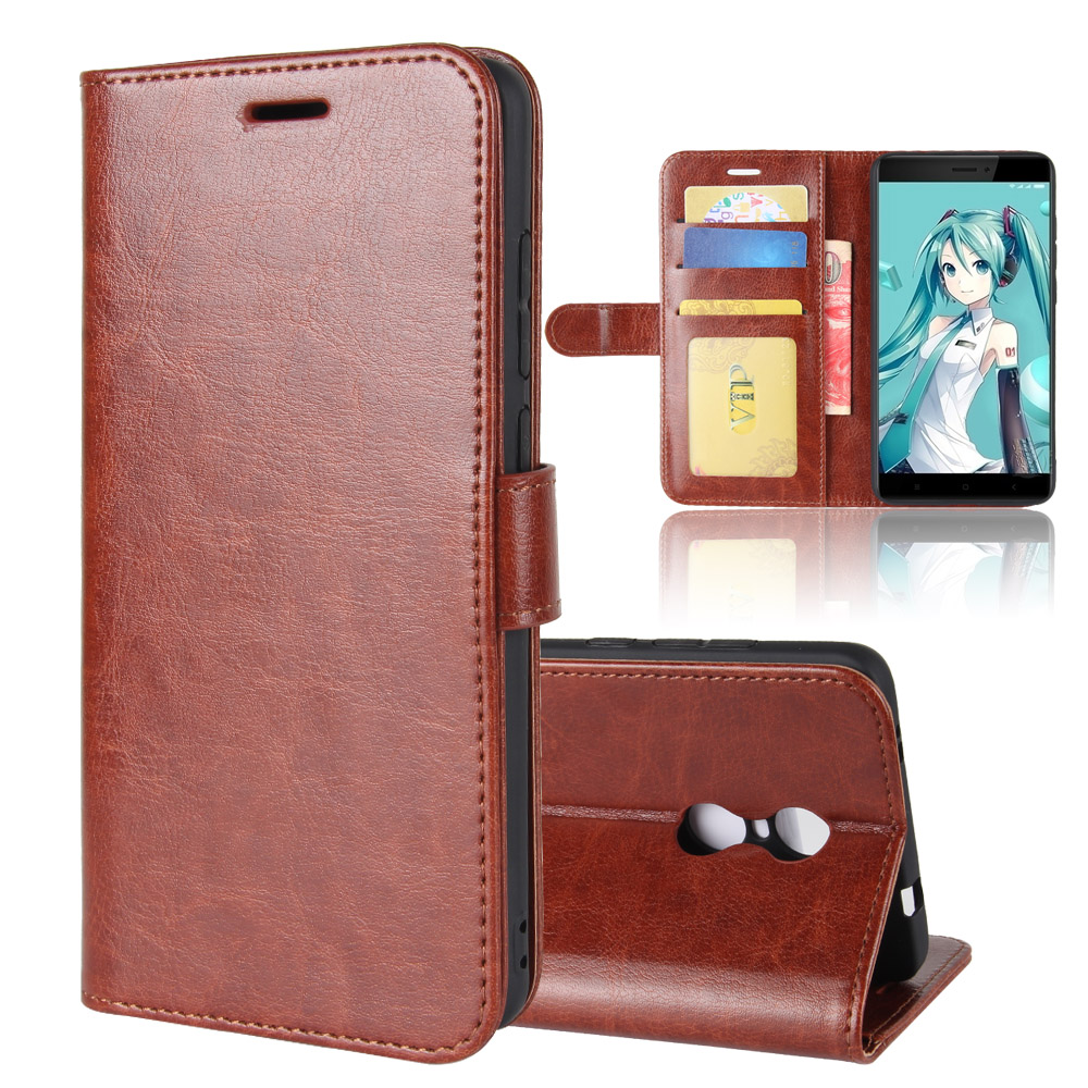 Genuine Wallet Stand Crazy Horse Leather Cover <strong>Case</strong> For Redmi Note 4X
