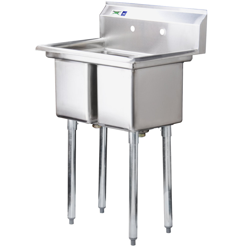 Commercial Basin : ... Stainless Steel Commercial Double Bowl Kitchen Sink with Drainboard