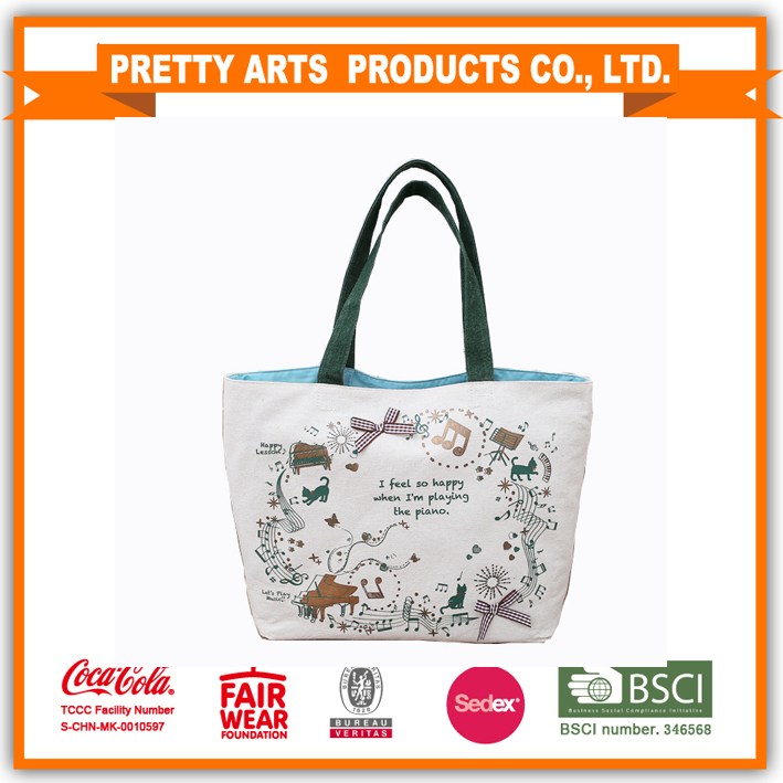 2016 promotional customized canvas <strong>tote</strong> bag handbag