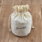 Custom Round Bottom Printed Eco-Friendly Cotton Fabric Muslin Drawstring Bag For Candle Packing Bag