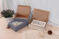 rectangular shabby chic handmade MDF wooden box for gift