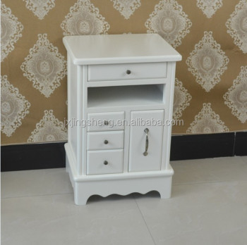Charmant French Country Style Ivory Nightstand Unique Wooden Bedside Table With  Drawers Console Table Side Table