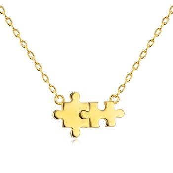 Cheap wholesale 14k gold puzzle piece pendant necklace buy puzzle cheap wholesale 14k gold puzzle piece pendant necklace aloadofball Gallery