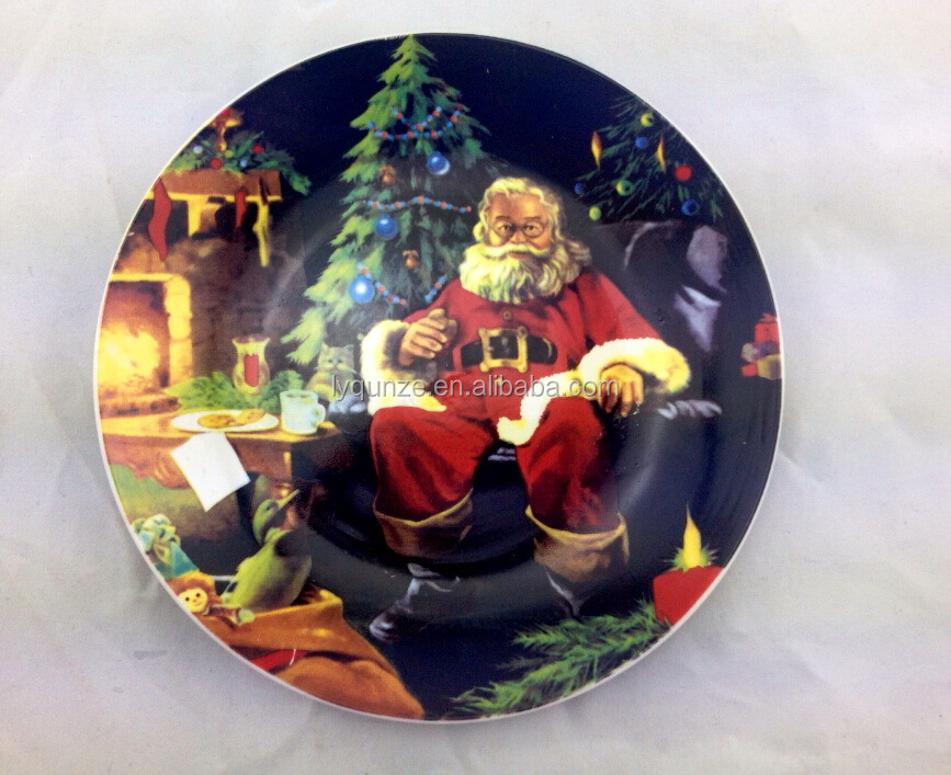 Christmas Decorative Plates For Wall Hanging,Ceramic Decorative ...