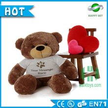 Custom made wholesale lovely soft jumper T-shirt teddy bear stuffed toy bear plush toy
