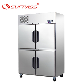 4 Doors Upright Refrigerated Cabinets with shelves