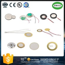 piezo ceramic disc for buzzer alarm with wire and connector(ROHS) FT-13T-100D3-1
