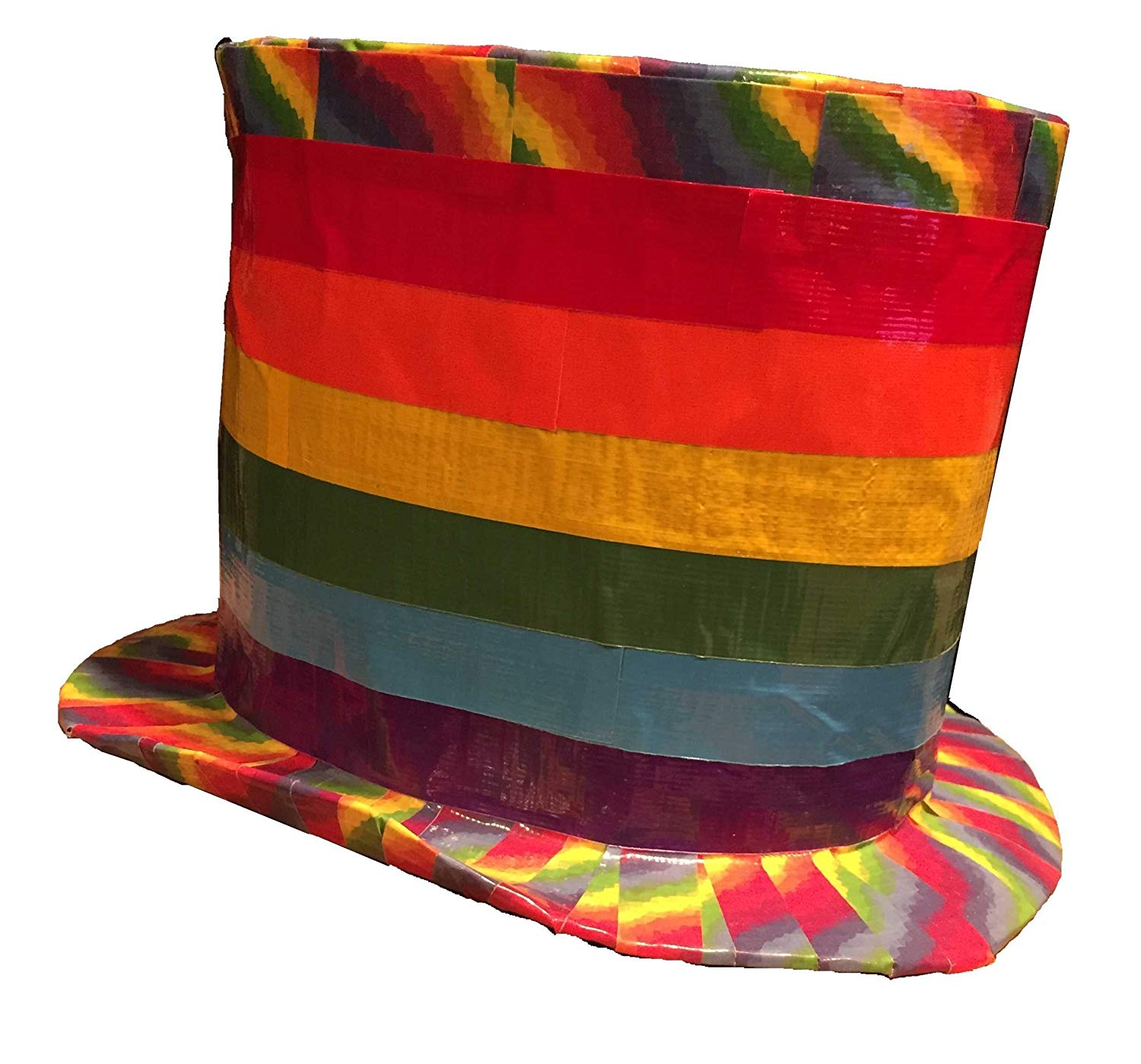 c0414b0ab7264 Get Quotations · Rainbow Duct Tape Top Hat