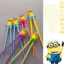 Funny minions chopsticks envirnmental silicone animal shape chopsticks beautiful custom silicone chopsticks