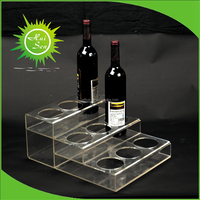 High Quality Plastic Wine Rack from Huisen Factory