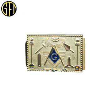 Free masonic gift gold money clip for men