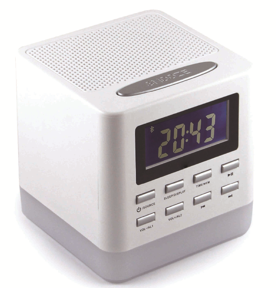 Bluetooth speaker and radio with night light and alarm clcok