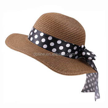Wholesale Custom New style Sun Beach Wear Wide Brim Paper Straw Women Summer Hat