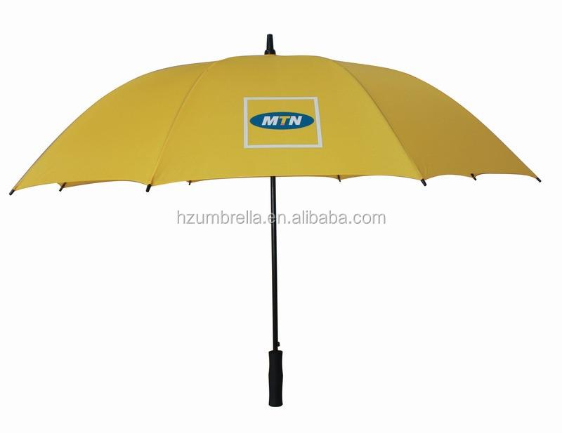 Sarı Rüzgar Geçirmez Golf şemsiyesiotomatik şemsiye Mekanizması