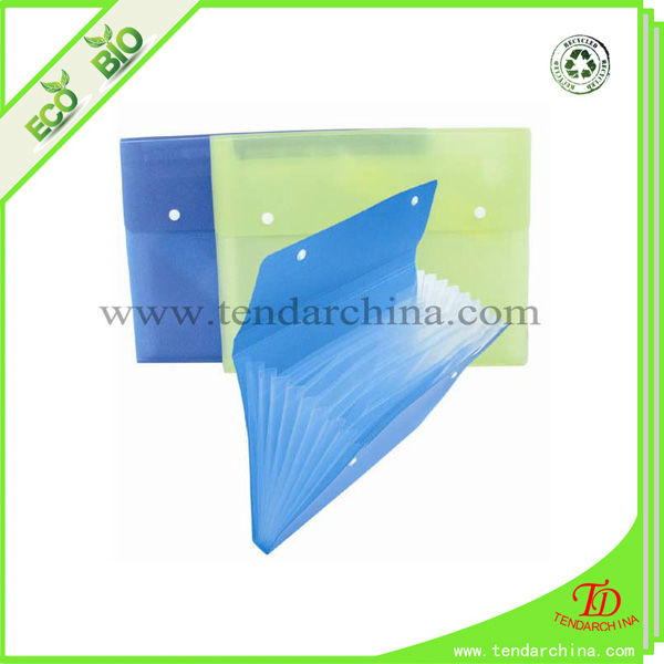 mini expanding file folder with plastic button made of eco friendly PP for office and school use