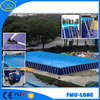 Portabel durable outdoor above ground pvc frame pools/steel frame pool