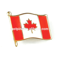 Custom Design Wholesale Canadian Flag Lapel Pins Brass Cheap Metal Hard Enamel Badge