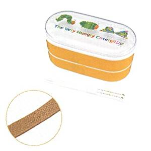 Bento: Eric Carle The Very Hungry Caterpillar 2-tier Microwavable Lunch Box with Chopsticks