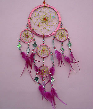 Dream Catchers With Beads Sparkling Plastic Dreamcatcher W Glass Beads Mirror Accent 17