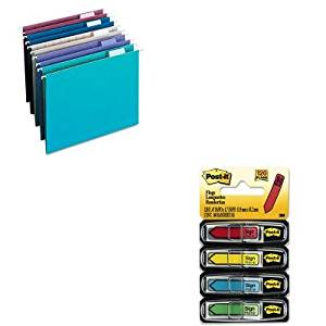 KITMMM684SHSMD64056 - Value Kit - Smead Designer Assortment Hanging Folders (SMD64056) and Post-it Arrow Message 1/2amp;quot; Flags (MMM684SH)
