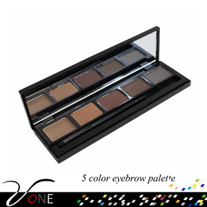 FB05-2 new arrival private label eyebrow of 5 naked color eyebrow powder
