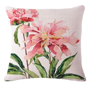 rose flower folding stadium seat camping floor chair pillow cushion