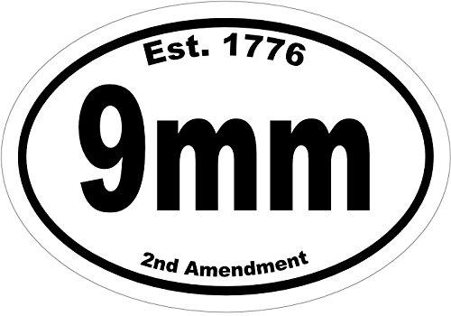 Get quotations · 9mm cartridge caliber gun vinyl decal truck decal car sticker gun gifts 2nd