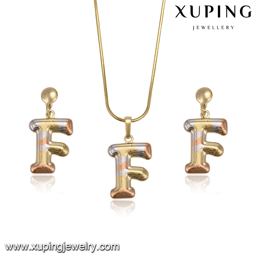Fashion costume various design popular new letter F jewelry sets