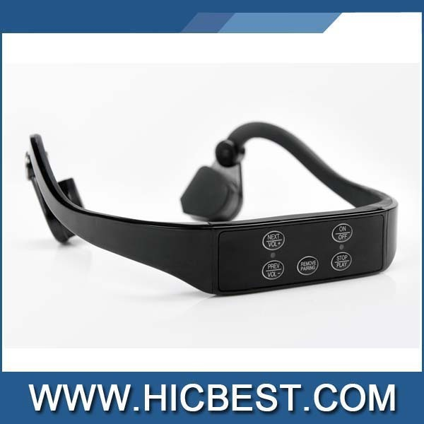 2015 New colorful bone conduction bluetooth headphone speaker