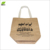 Reusable Printed Jute Promotional Shopping Travel Bag With Long Handle