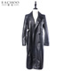 Winter And Spring Women's Long Coat Faux Leather Jacket