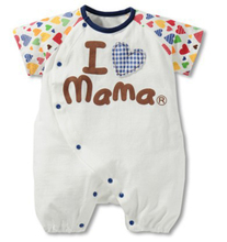 baby girls & boys Clothing Rompers kids short Bodysuits & One-Pieces children I love mama papa clothes conjuntos summer 2015