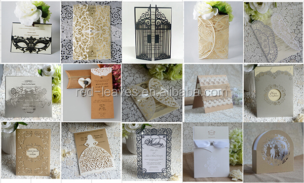Wishmade New Design Invitations Embossing Wedding Cards Invitation ...