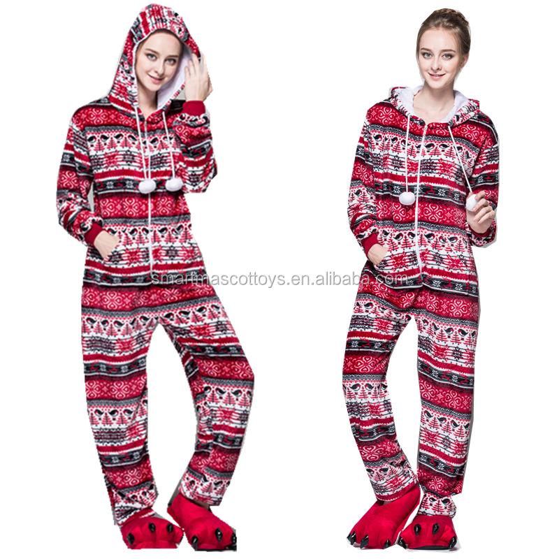 53cc477365 Flannel adult wholesale christmas pajamas red birds christmas pajamas
