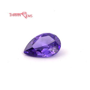 Purple pear shape cubic zirconia cz stones for sale