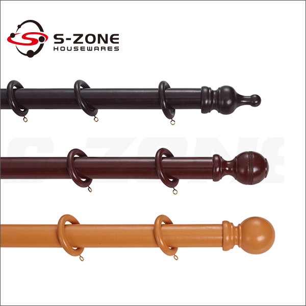 white wooden curtain rod rings large hang decorative window rods poles pipes home decoration drapery and finials