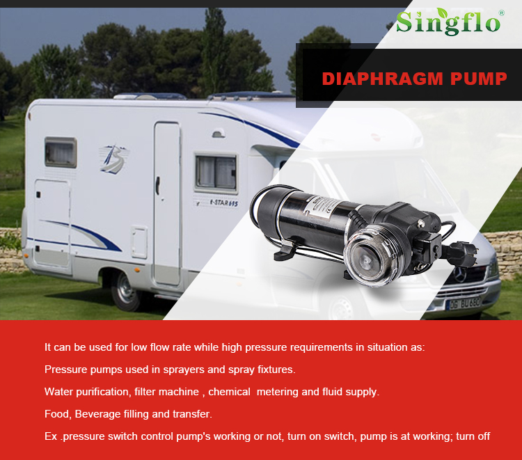 Singflo hot sale FL-40 17LPM 40PSI 12v high flow water pump/high flow electric water pump/electric diaphragm pump